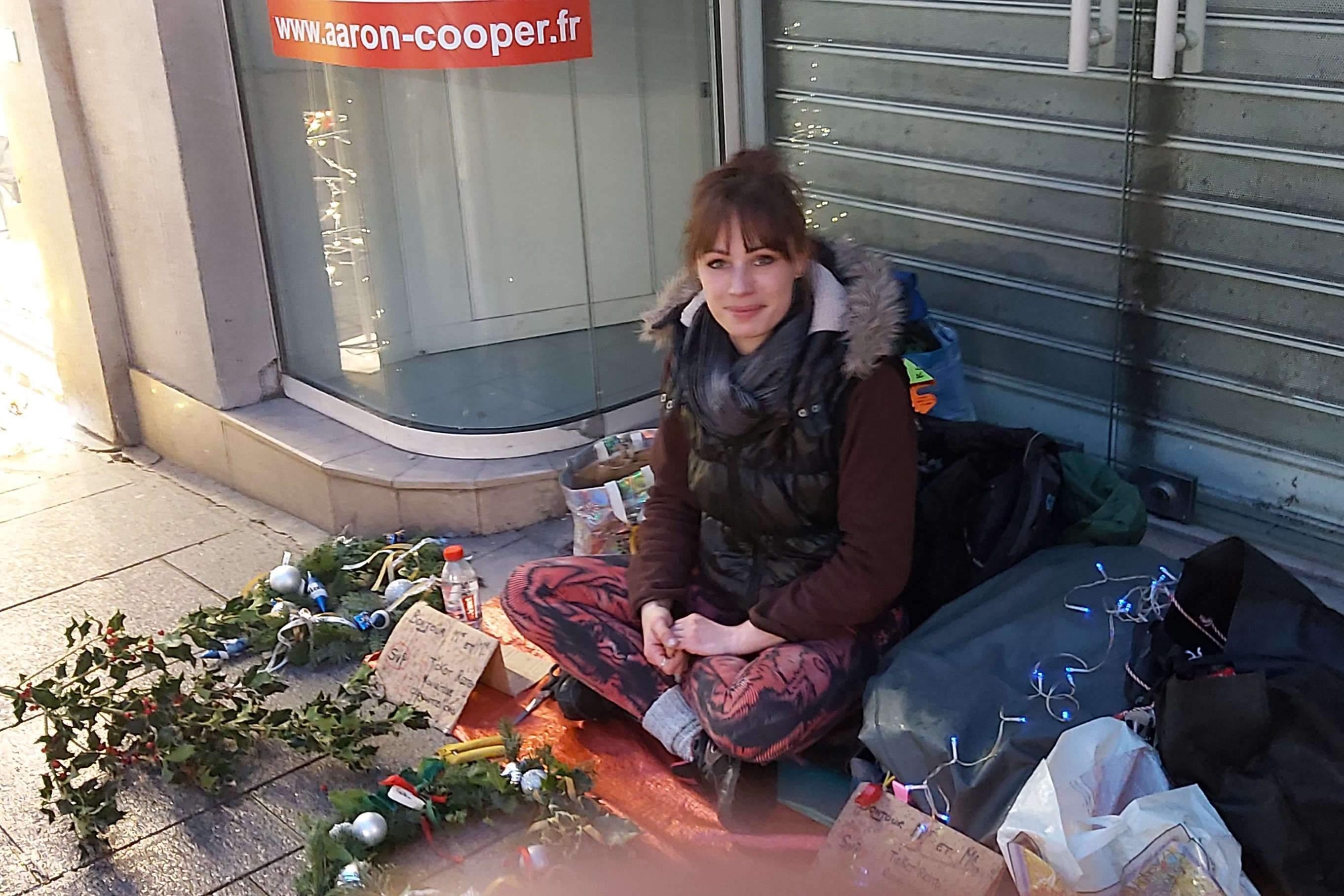 Nancy: being 20 years old on a sidewalk