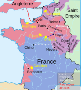 The kingdom of France around 1429