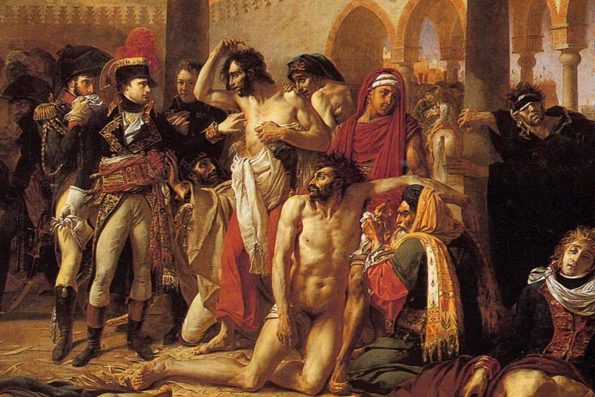 Bonaparte visiting the plague-stricken people of Jaffa [Wikimedia Commons]