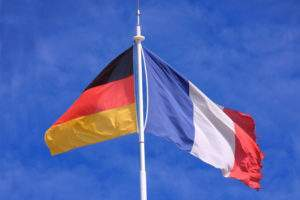 French and German flags