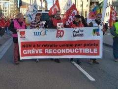 About 3,000 people demonstrated against the pension reform on 16 January 2020 in Nancy (DR)