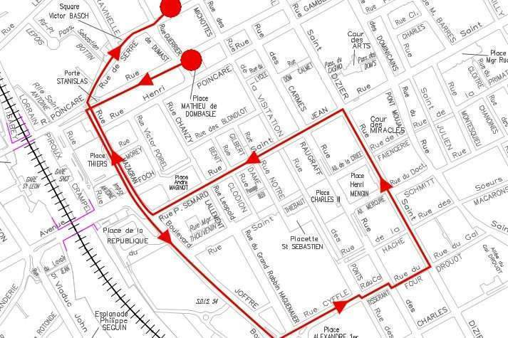 Course of the event in Nancy