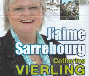 """Catherine Verling """"loves Sarrebourg"""" and presents herself at the town hall."""