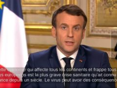Speech of March 12, 2020 (capture Youtube Official E.Macron account)