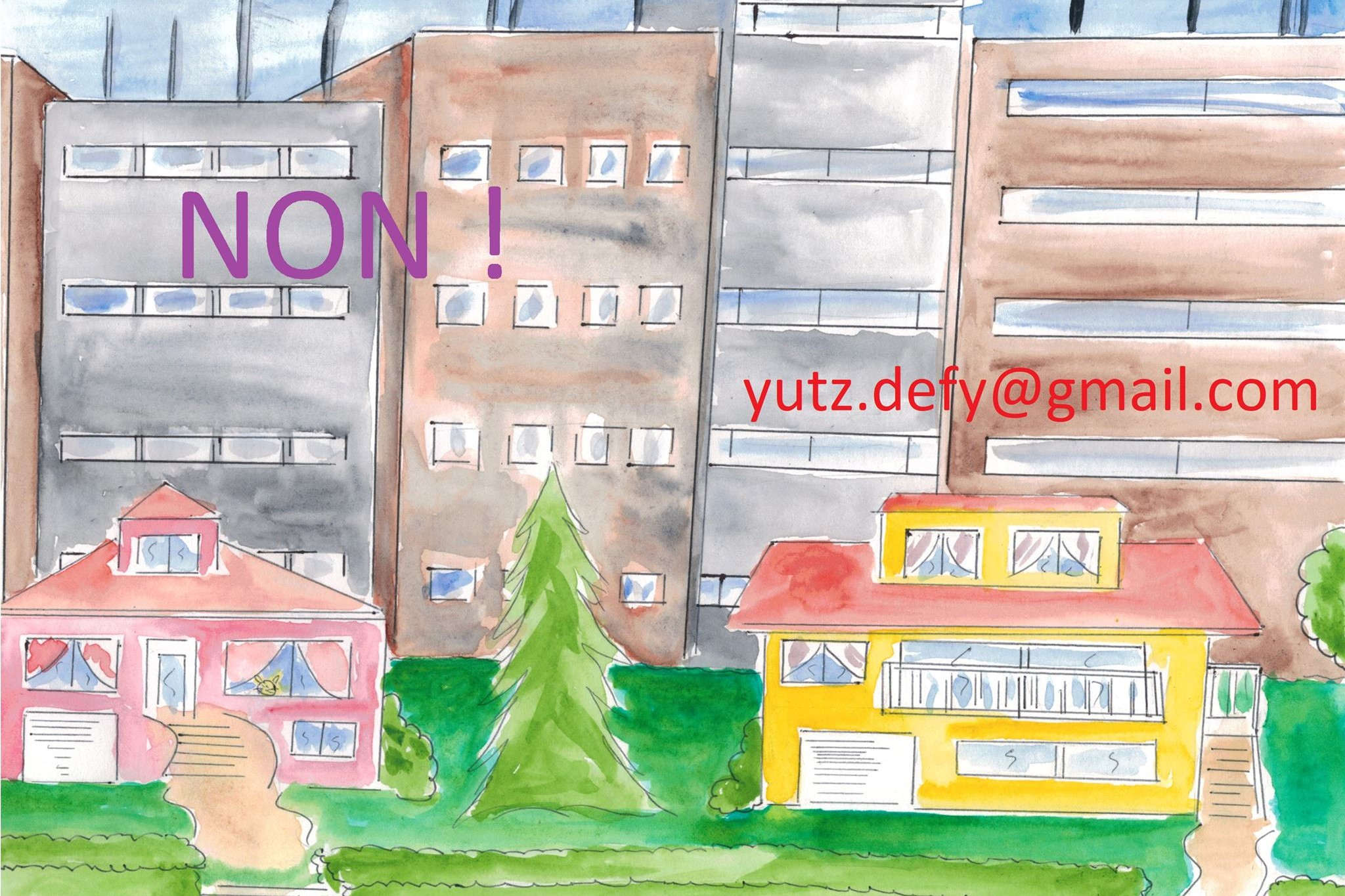 Yutz: against delirious concrete (drawing by the collective DEFY)