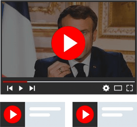 French video news