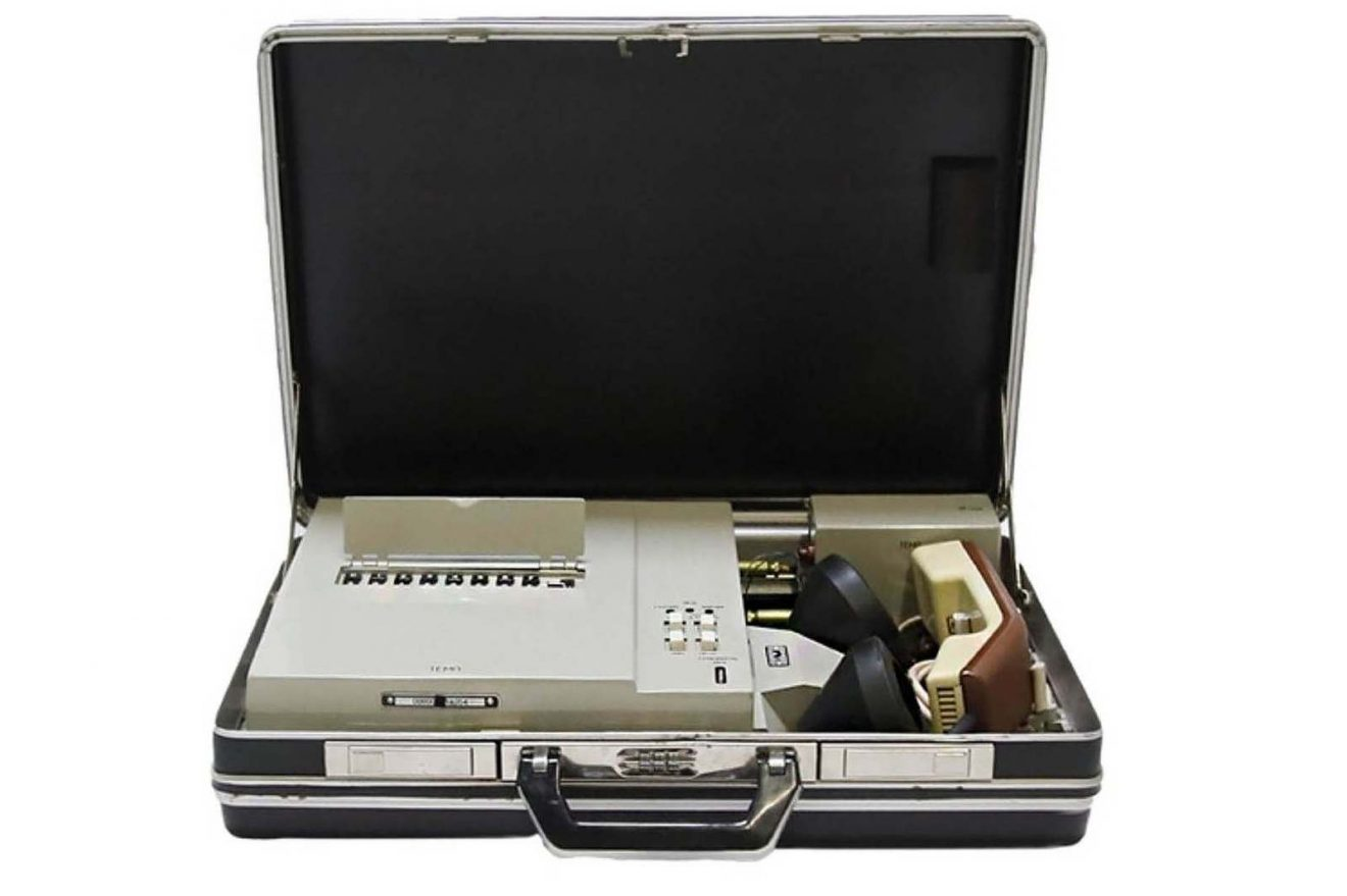 Special case used by a KGB (USSR) General for his secret encrypted communications, circa 1990. The communications with this case are inviolable because the encryption evolves and changes during telephone conversations. Marché Dauphine - Photo Sixtine Legrand