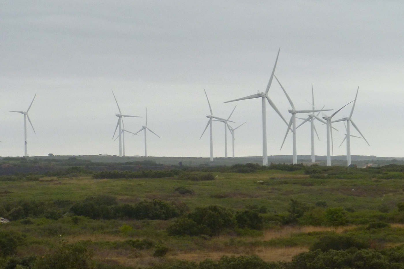 Wind farm in Aumelas, Herault, France