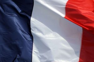The French flag, emblem of the French Republic (DR)