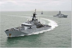 Photocredit Crown Copyright 'British Coastal Protection Vessels in the Channel'