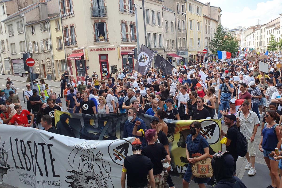 Défilé à Nancy, le 14 aout 2021 (Le Bloc Lorrain)